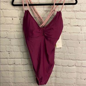 Purple One Piece Swimsuit Medium #BB020